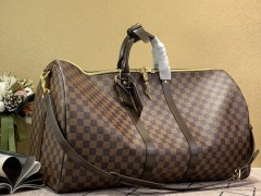 1:1 original leather Louis Vuitton tote travel bag keepall 55 N41414 00393 top quality