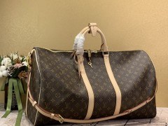 1:1 original leather Louis Vuitton tote travel bag keepall 55 M41414 00396 top quality