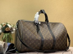 1:1 original leather Louis Vuitton tote travel bag keepall 50 M41416 00391 top quality