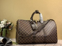 1:1 original leather Louis Vuitton tote travel bag keepall 45 N41418 00395 top quality