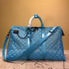 1:1 original leather Louis Vuitton tote travel bag keepall bandouliere 50 M53971/M53271 00399 top quality