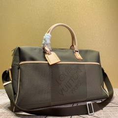 1:1 original leather Louis Vuitton tote travel bag damier geant keepall 50 M93071 00404 top quality