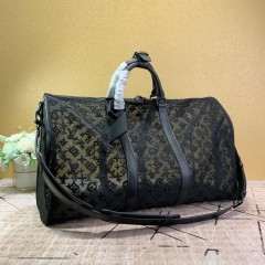 1:1 original leather Louis Vuitton tote travel bag keepall bandouliere 50 M53971/M53271 00402 top quality