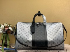 1:1 original leather Louis Vuitton tote travel bag keepall 50 M43818 00389 top quality