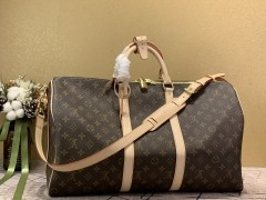 1:1 original leather Louis Vuitton tote travel bag keepall 50 M41416 00397 top quality