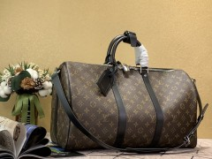 1:1 original leather Louis Vuitton tote travel bag keepall 45 M41418 00392 top quality