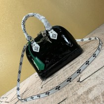 1:1 original leather Louis tote shoulder bag monogram vernis Alma BB M90447 00407 top quality