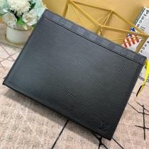 1:1 original leather Louis clutch bag pochette voyage MM M67736 00420 top quality