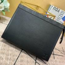 1:1 original leather Louis clutch bag pochette voyage MM M67736 00419 top quality