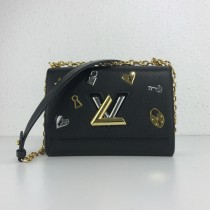 1:1 original leather Louis cross body/shoulder bag lv love lock twist MM M52890 00412 top quality