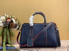 1:1 original leather Louis tote shoulder bag open handbag M55613 00438 top quality