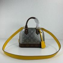1:1 original leather Louis tote shoulder bag monogram vernis Alma BB M44389 00408 top quality