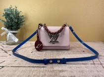 1:1 original leather Louis shoulder bag twist M52507 00417 top quality