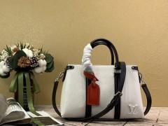1:1 original leather Louis tote shoulder bag open handbag M55613 00439 top quality