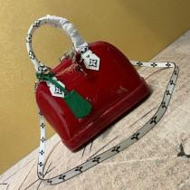 1:1 original leather Louis tote shoulder bag monogram vernis Alma BB M90447 00406 top quality