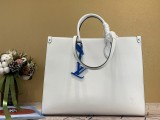 1:1 original leather Louis tote bag with strap onthego MM epi M56080 00451 top quality