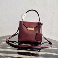 1:1 original leather Prada tote shoulder bag outlet 1BN012 00498 top quality