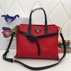 1:1 original leather Prada tote shoulder bag sale 98802 00505 top quality