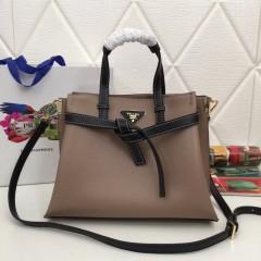 1:1 original leather Prada tote shoulder bag sale 98802 00502 top quality