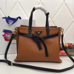 1:1 original leather Prada tote shoulder bag sale 98802 00506 top quality