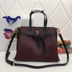 1:1 original leather Prada tote shoulder bag sale 98802 00504 top quality