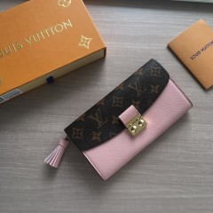 1:1 Louis Vuitton real leather croisette long wallet N60207 00585 top quality