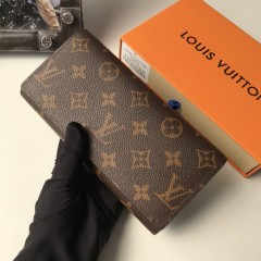 1:1 real leather Louis Vuitton wallet outlet M58101 00579 top quality