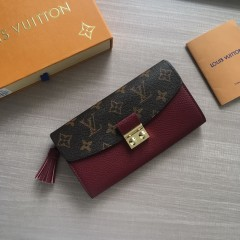1:1 Louis Vuitton real leather croisette long wallet N60207 00584 top quality