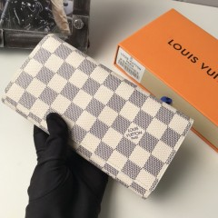 1:1 real leather Louis Vuitton wallet outlet M58101 00578 top quality