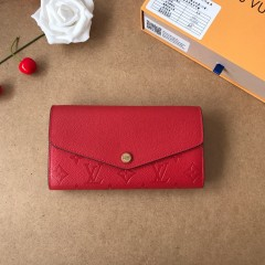 1:1 Louis Vuitton real leather wallet monogram empreinte M61182 00568 top quality