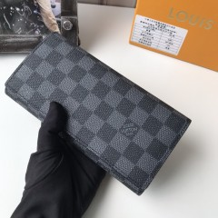1:1 real leather Louis Vuitton wallet outlet M58101 00580 top quality