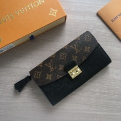 1:1 Louis Vuitton real leather croisette long wallet N60207 00586 top quality