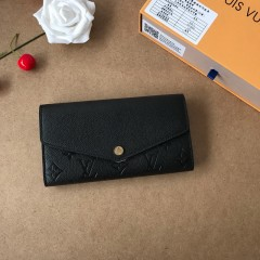 1:1 Louis Vuitton real leather wallet monogram empreinte M61182 00572 top quality