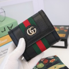 1:1 original leather Gucci wallet sale #523174 00589 top quality