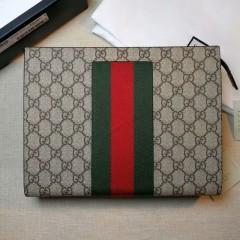 1:1 original leather Gucci wallet men clutch bag sale #475316 00602 top quality