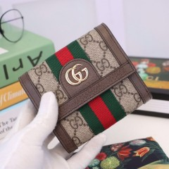 1:1 original leather Gucci wallet sale #523174 00588 top quality