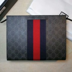 1:1 original leather Gucci wallet men clutch bag sale #475316 00603 top quality