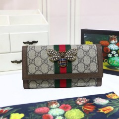 1:1 original leather Gucci wallet sale #476064 00591 top quality