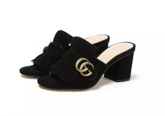 1:1 original cowhide/sheepskin Gucci women sandal heel 7cm 00729 top quality