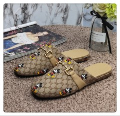 1:1 original cowhide/sheepskin Gucci men and women casual flat shoes 00739 top quality