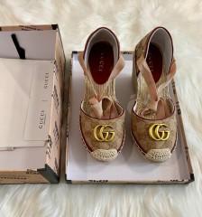 1:1 original cowhide/sheepskin Gucci women shoes heel 10cm 00726 top quality