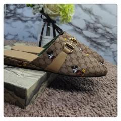 1:1 original cowhide/sheepskin Gucci men and women casual flat shoes 00742 top quality