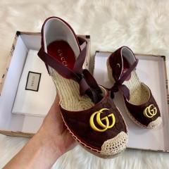 1:1 original cowhide/sheepskin Gucci women shoes heel 10cm 00725 top quality