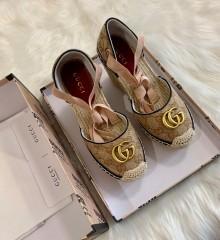 1:1 original cowhide/sheepskin Gucci women shoes heel 10cm 00727 top quality