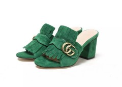 1:1 original cowhide/sheepskin Gucci women sandal heel 7cm 00730 top quality
