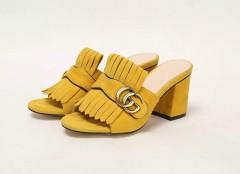1:1 original cowhide/sheepskin Gucci women sandal heel 7cm 00728 top quality