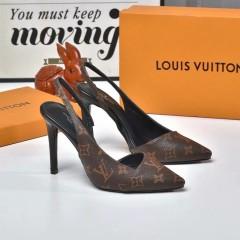 1:1 original leather Louis Vuitton women shoes for sale heel 10cm 00786 top quality