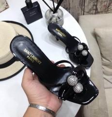 1:1 original leather Saint Laurent shoes YSL sandal outlet 00818 top quality