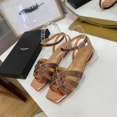 1:1 original leather Saint Laurent shoes YSL sandal outlet 00822 top quality