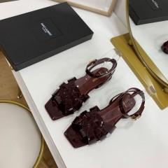 1:1 original leather Saint Laurent shoes YSL sandal outlet 00824 top quality